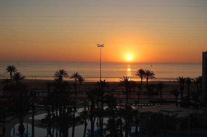 Avslutar med en solnedgång, Atlanten ligger 100 m bort. Välkomna till Agadir! Håkan Eriksson Eastonvärd