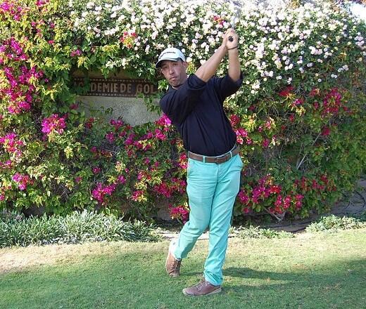 """Övriga hängde med på en guidning på Golf de Soleil istället. Bla fick vi swingtips av klubbens pro Khalid. """"Anders, imaging that the ball is Eva - Kiss it smoothly"""""""