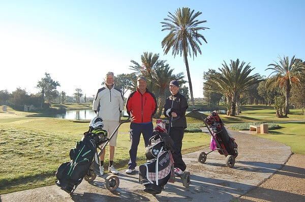 On tee, from SWEDEN, representing Easton Golf: Göran,Mats and Viktoria.