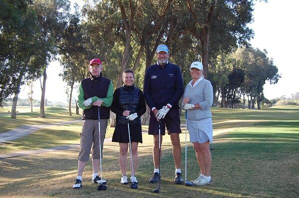 Lars, Ingegerd, Jan-Åke och Ingrid hängde på.