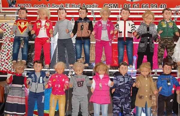 Ett ganska coolt sätt att visa upp utbudet av barnkläder eller????