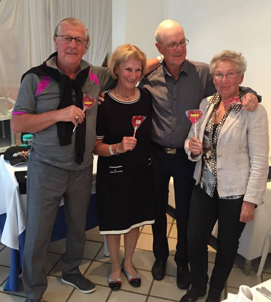 Torsten, Berith, Göran och Ingrid svingade säkert och vann Easton Golf Classic.