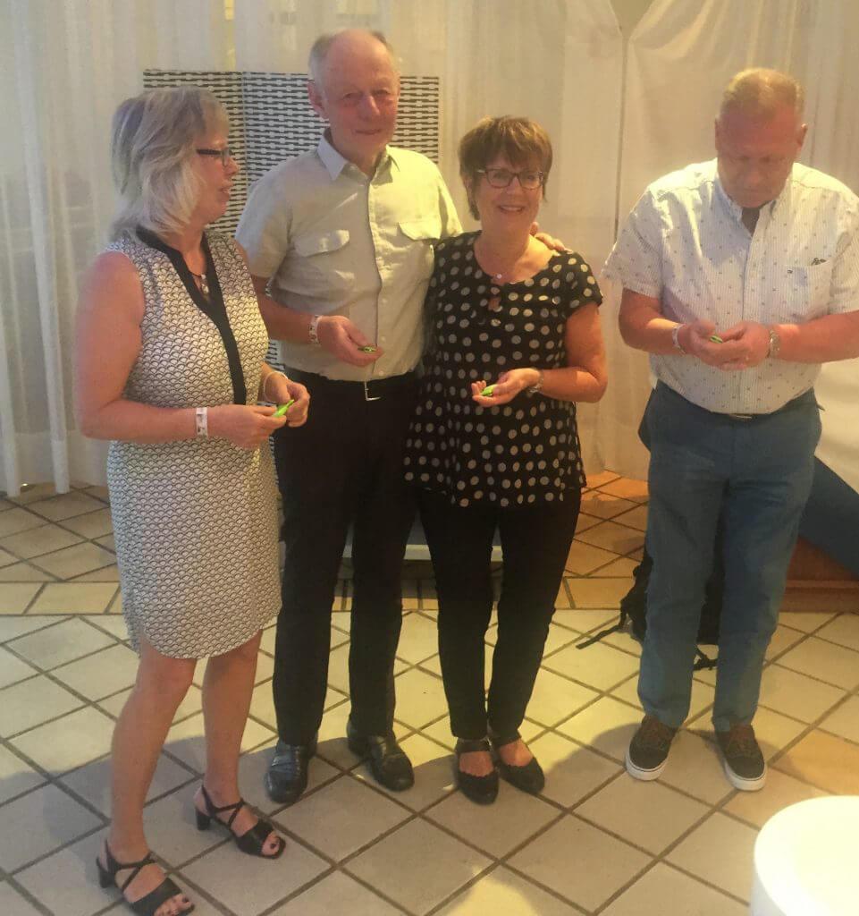Gunilla, Bo, Inger och Jörgen som kom på tredje plats. Bra kämpat i stormbyarna!