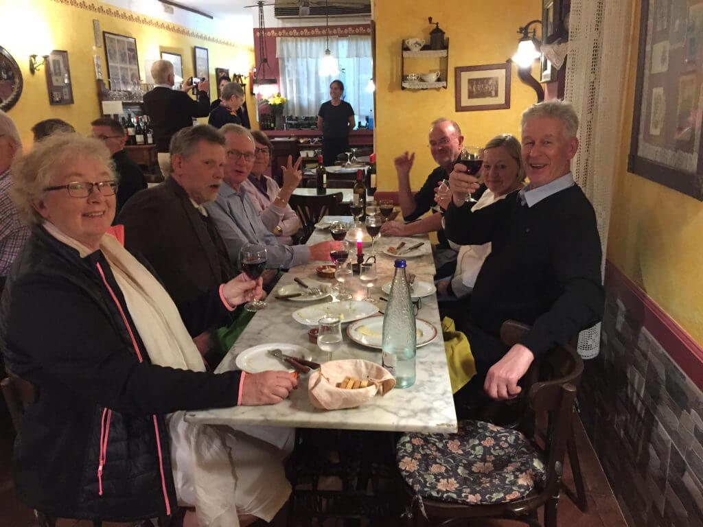 Glada miner och väldigt god mat på La Cua Curta