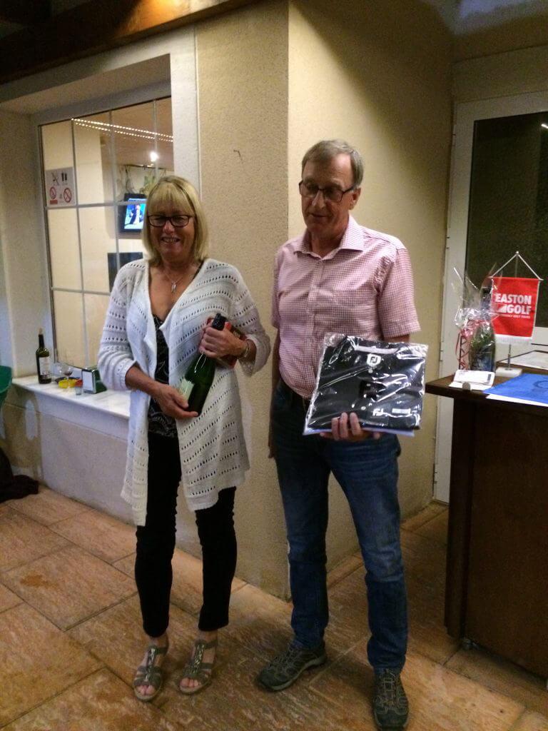 Vinnare i veckans greensome, Annika och Leif! Delade med Anne-Katrin och Hans-Göran som tyvärr redan åkt hem:(