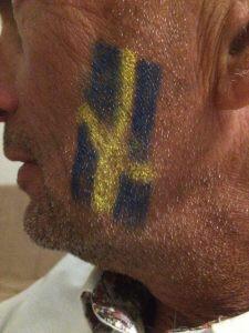 Laddade för match, heja Sverige!!