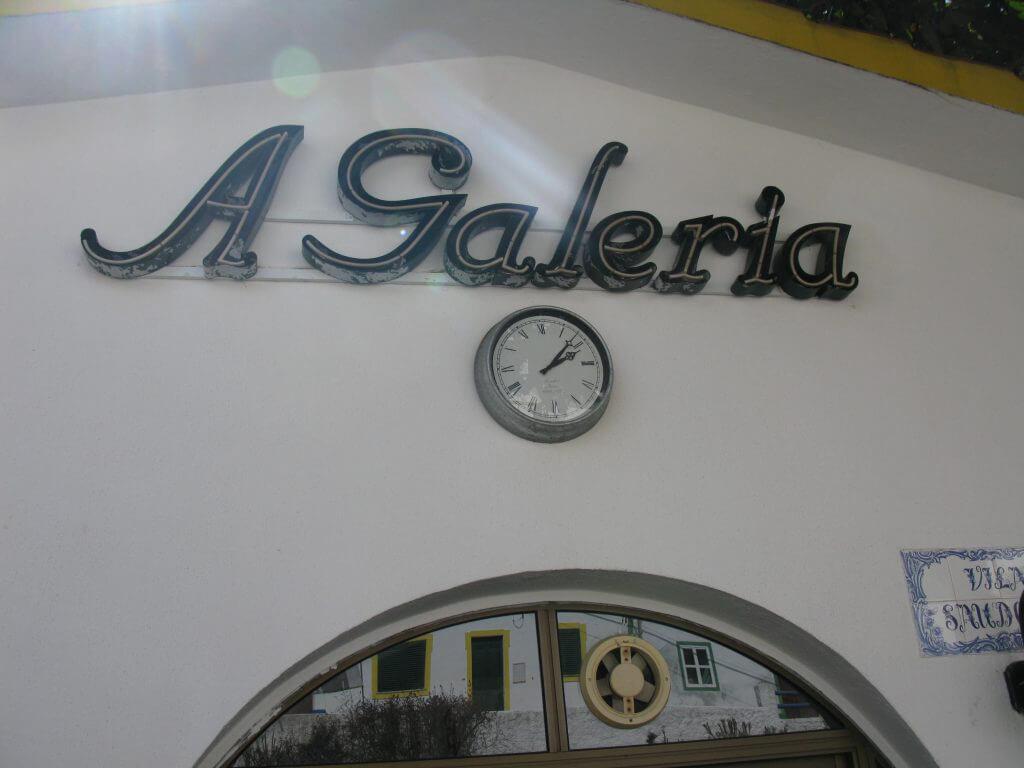 den trevliga restaurangen A Geleria.