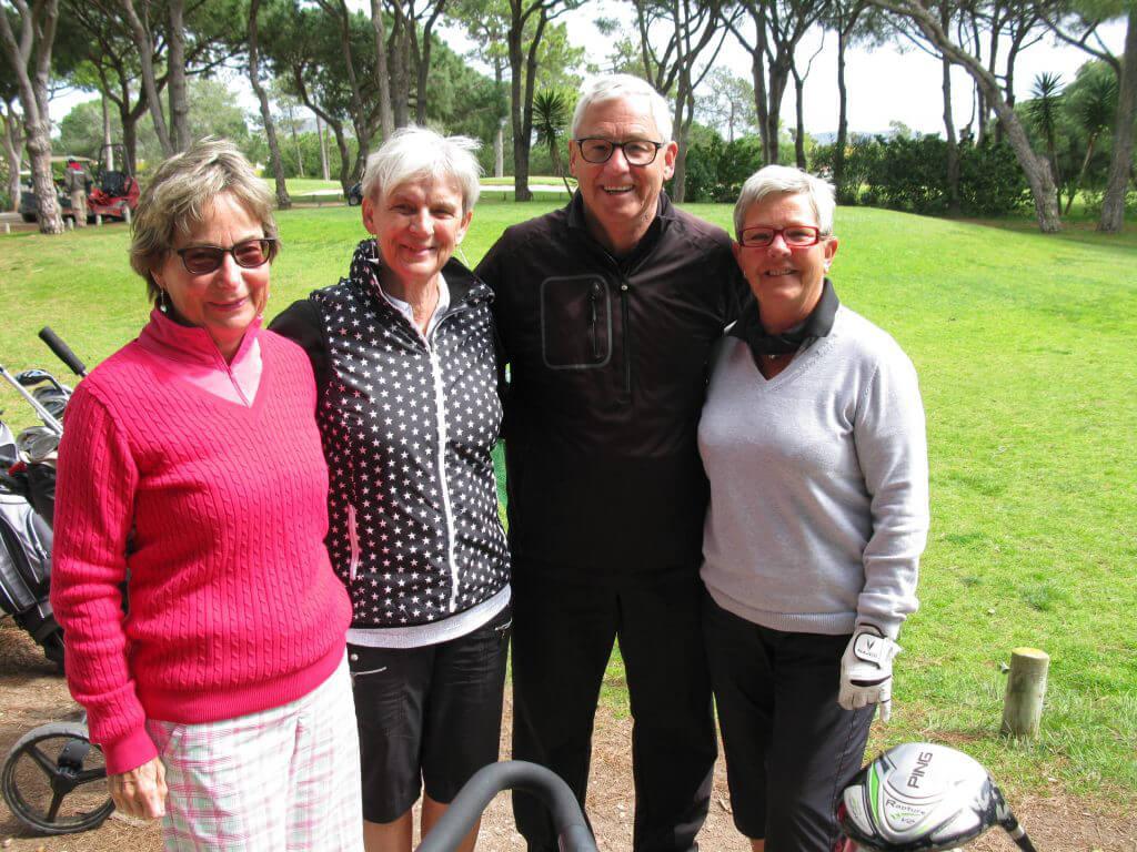 Första laget ut: Gunilla, Inger, Sven och Lena.