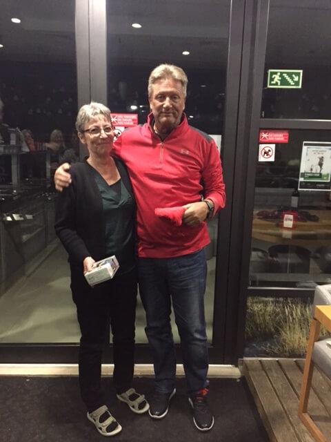 På tredje plats och med samma poäng kom lag Roy och Ann.