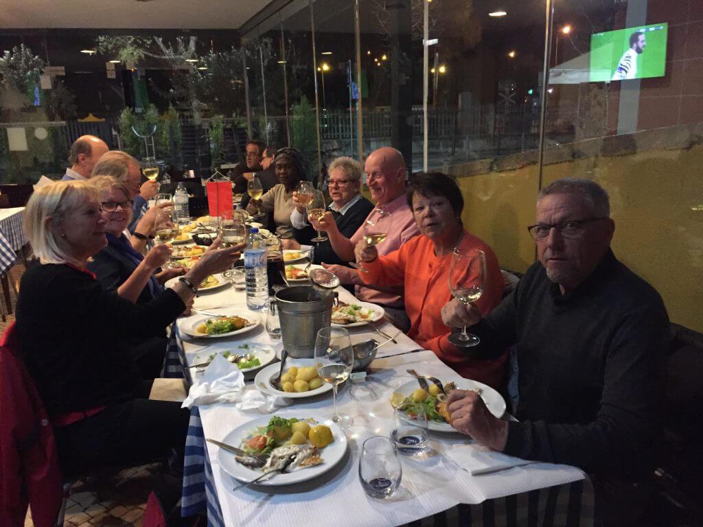 Dagen fortsatte med en god middag på den trevliga fiskrestaurangen i Setubal.