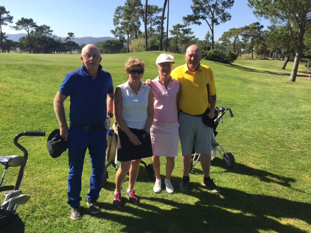 Lars, Gerd, Margaretha och Tommy verkar nöjda med dagens Easton Classic.