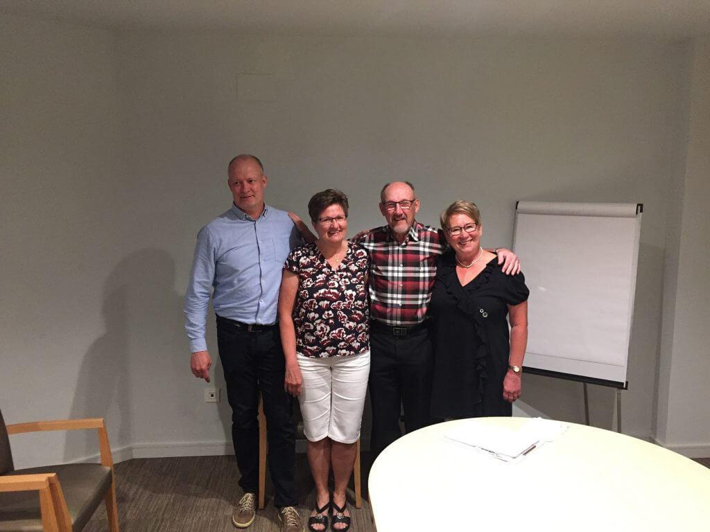 Vinnarna i Easton Classic Mikael, Lena, Lennart och Lisbeth