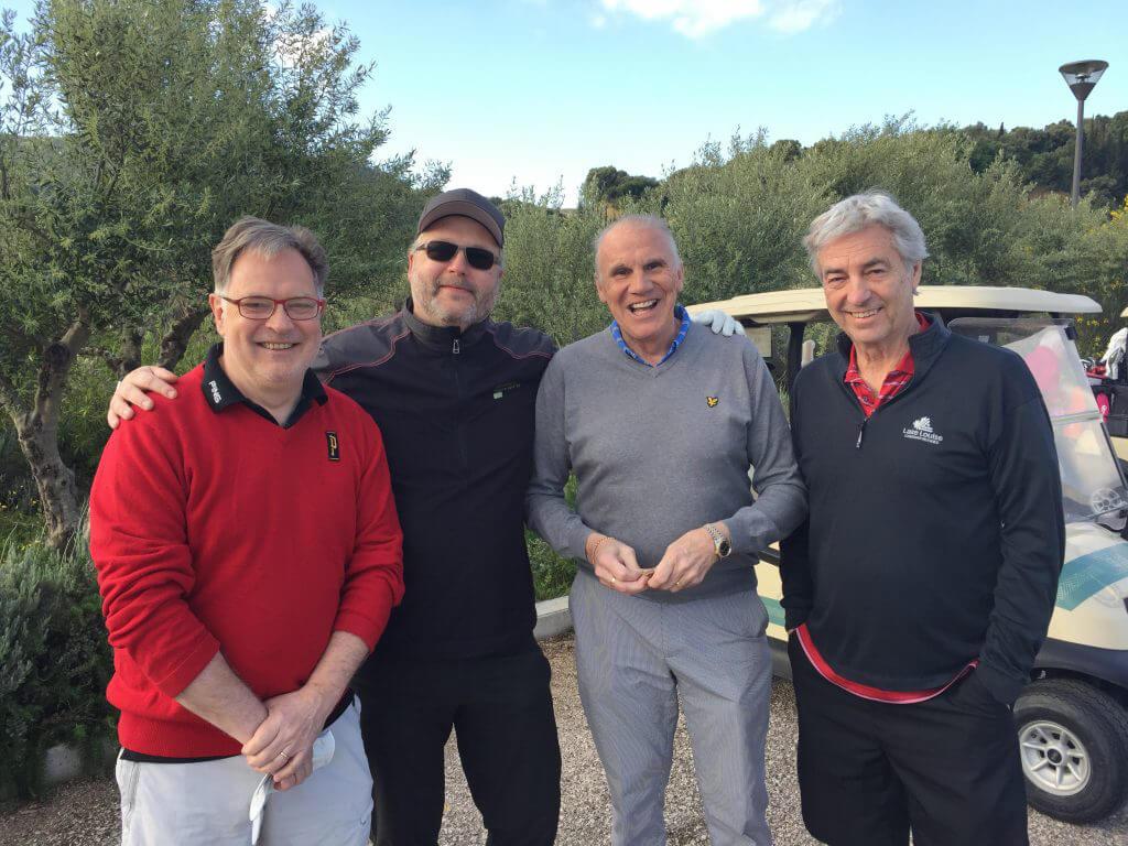 Först ut norrlandsgänget med Christer, Mikael, Kent och Peter.