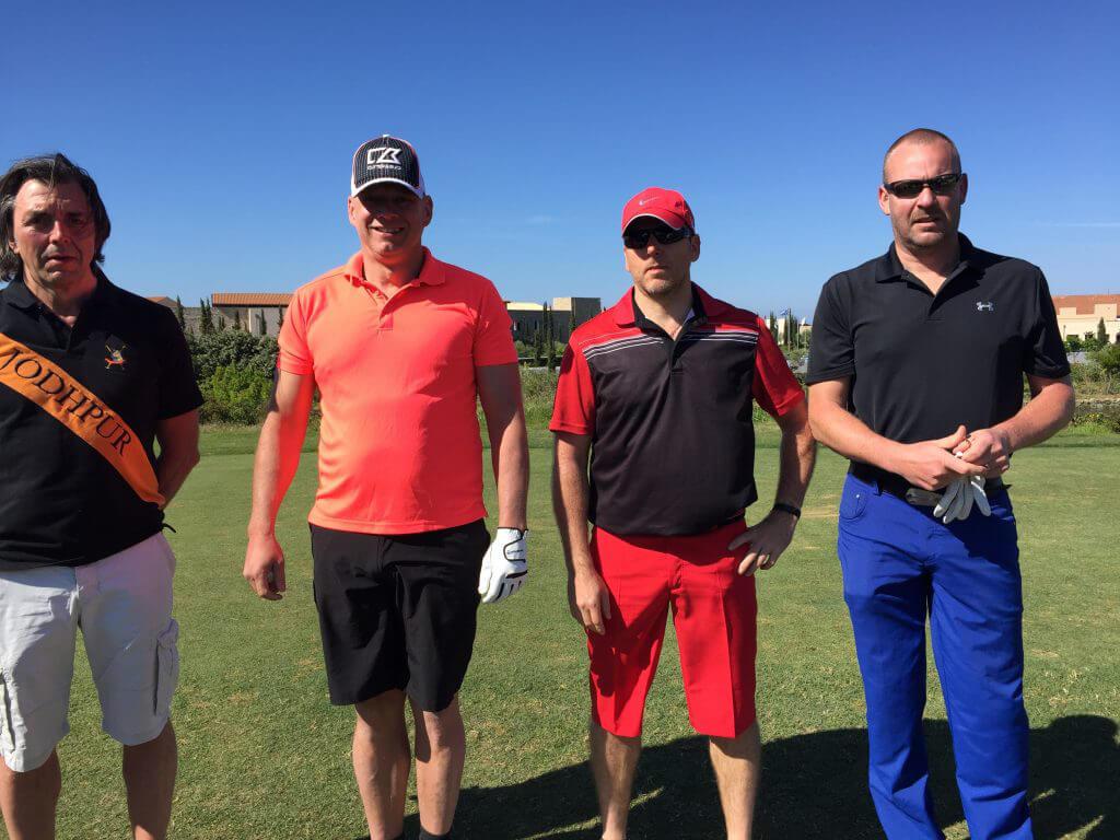 Tätt följda av Urban, Peter, Mathias och Mikael - eleganta grabbar.
