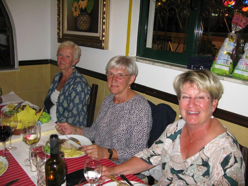 Leni, Inger och Åsa.